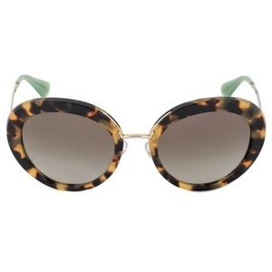 NWOT Prada Round Tortoiseshell Sunglasses
